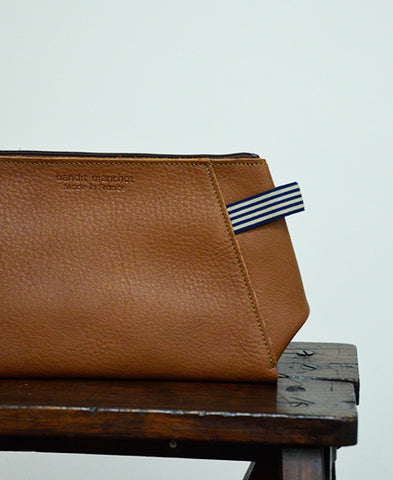 Bandit Manchot / leather pouch for men (camel)