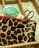 Bandit Manchot / leather zipped purse (leopard)