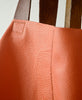 Bandit Manchot / leather huge tote bag  (paprika)