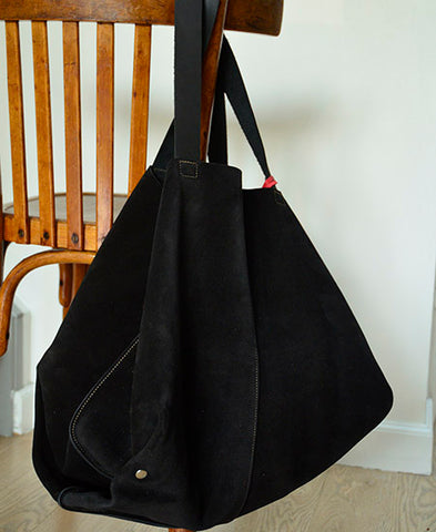 Bandit Manchot / leather huge tote bag  (black)