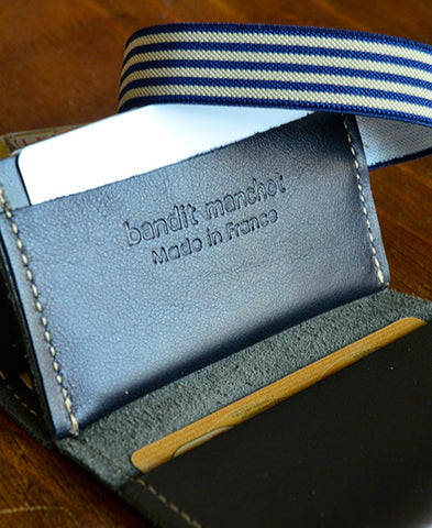 Bandit Manchot / leather multi card holder (dark brown)