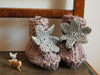 April Showers / Knitted baby shoes (grey)
