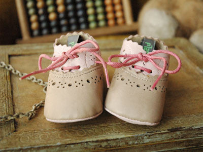 Filament Baby Shoes (Beige et Rose)