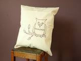 April Showers / Coussin (Hibou lilas)