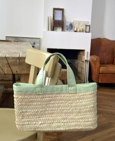Morocco Marche bag  / Square (peppermint green)
