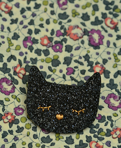 Obi Obi / broche chat noir