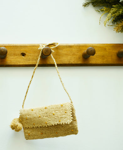 【25%FF】Obi Obi / women and kids croched bag (raphia)