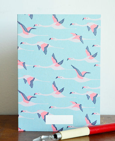 season paper / carte (flamingo)