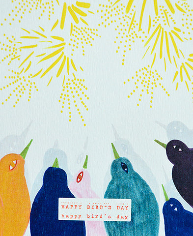 season paper / carte d'anniversaire (happy bird's day)