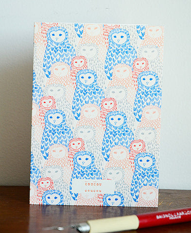 season paper / carte (owls