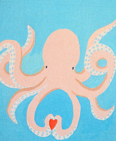 season paper / carte (octopus in love)