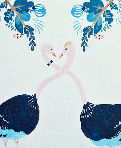 season paper / carte (ostriches in love)