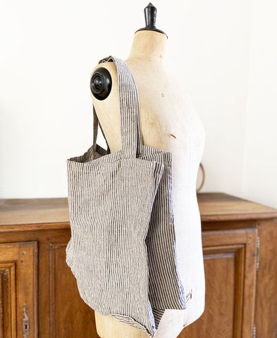 not PERFECTLINEN / TOTE BAG (natural grey stripes)