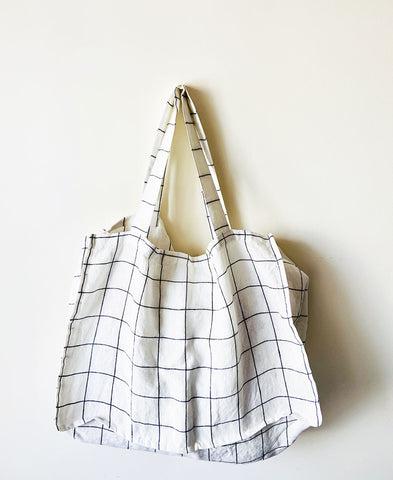 not PERFECTLINEN / TOTE BAG (large checks)