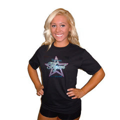 Basic T Shirt featuring Rhinestone California Flyers Allstars Logo