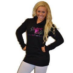 Boyfriend Style Longer Length Hoodie Featuring Brittany's Elite Stars Logo