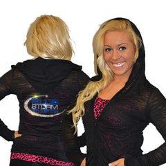 Burnout Hoodie Featuring Blue Storm Athletics Rhinestone Logo