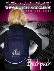 Bling Backpack Featuring Chi-Town Cheerleading Rhinestone Logo