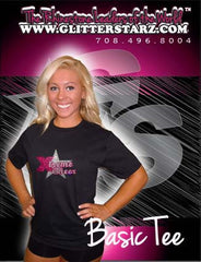 Basic T Shirt featuring Rhinestone Xtreme Tumble and Cheer Logo