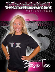 Basic T Shirt featuring Rhinestone Texas Thunder Logo