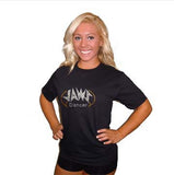 Basic T Shirt featuring Rhinestone JoAnn Warren Studio Logo