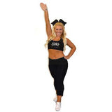 Everyday Essential Practicewear Sports Bra and Capri Set Featuring JoAnn Warren Studio in Rhinestones