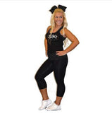 Everyday Essential Practicewear Razor Tank and Leggings Set Featuring JoAnn Warren Studio Logos in Rhinestones