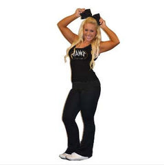 Everyday Essential Practicewear Tank and Foldover Yoga Set Featuring JoAnn Warren Studio Logos in Rhinestones
