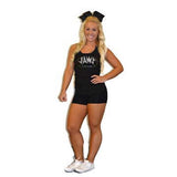 Everyday Essential Practicewear Tank and Short Set Featuring JoAnn Warren Studio Logos in Rhinestones