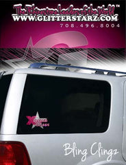 Bling Clingz featuring Rhinestone Xtreme Tumble and Cheer Logo