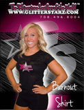Burnout Tshirt Featuring Xtreme Tumble and Cheer Rhinestone Logo