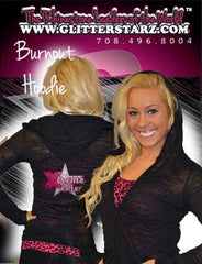 Burnout Hoodie Featuring Xtreme Tumble and Cheer Rhinestone Logo