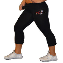 Foldover Capris Featuring Rhinestone Artistry In Motion Logo