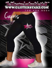 Foldover Capris Featuring Rhinestone Xtreme Tumble and Cheer Logo