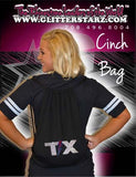 Bling Cinch Bag Featuring Texas Thunder Rhinestone Logo