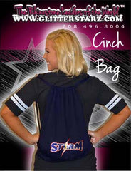 Bling Cinch Bag Featuring South Jersey Storm Rhinestone Logo
