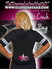 Bling Cinch Bag Featuring Xtreme Tumble and Cheer Rhinestone Logo