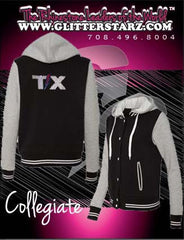 Collegiate Jacket featuring Rhinestone Texas Thunder Logo