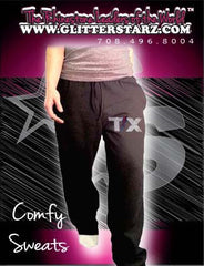 Sweatpants featuring Rhinestone Texas Thunder Logo
