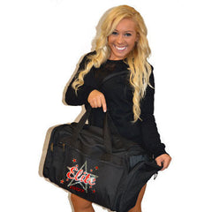 Bling Duffel Bag Featuring Bayonne PAL Elite Cheer Rhinestone Logo