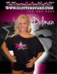 Flowy Dolman Style Shirt Featuring Xtreme Tumble and Cheer Rhinestone Logo