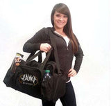 Bling Duffel Bag Featuring JoAnn Warren Studio Rhinestone Logo