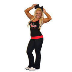 Everyday Essentials Practicewear Tank and Foldover Yoga Set Featuring Bayonne PAL Elite Cheer Logo in Rhinestones