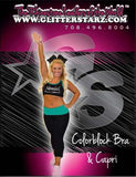 Everyday Essential  Sports Bra and Capri Set Featuring Adirondack Dance Company Logo in Rhinestones