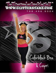 Everyday Essential Sports Bra and Capri Set Featuring Xtreme Tumble and Cheer Logo in Rhinestones