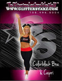 Everyday Essentials Practicewear Sports Bra and Capri Set Featuring PA Heat All-Stars Logo in Rhinestones