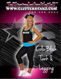 Everyday Essentials Practicewear Tank and Leggings Set Featuring Skky Allstars Logo in Rhinestones