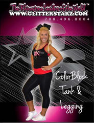 Everyday Essentials Practicewear Razor Tank and Leggings Set Featuring Matrix Allstars Logo in Rhinestones