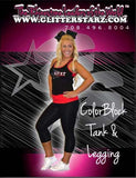 Everyday Essentials Practicewear Razor Tank and Leggings Set Featuring PA Heat All-Stars Logo in Rhinestones