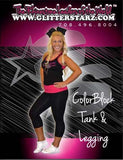 Everyday Essentials Tank and Leggings Set Featuring GlitterStarz Logo in Rhinestones
